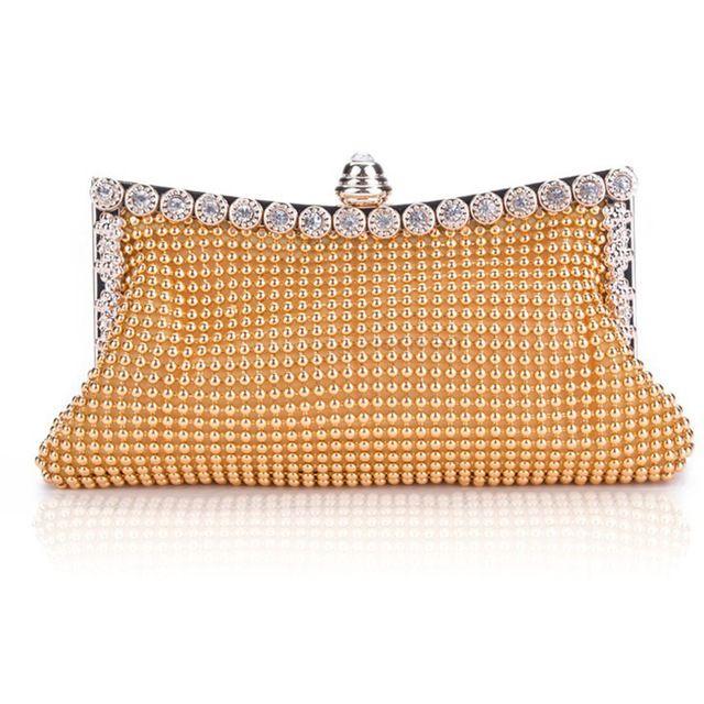 2016 New Elegant Lady Party Crystal Evening Bags Mini Evening Bag Clutch Women's Shinning Bag Purse Wallet Golden, Silver, Black