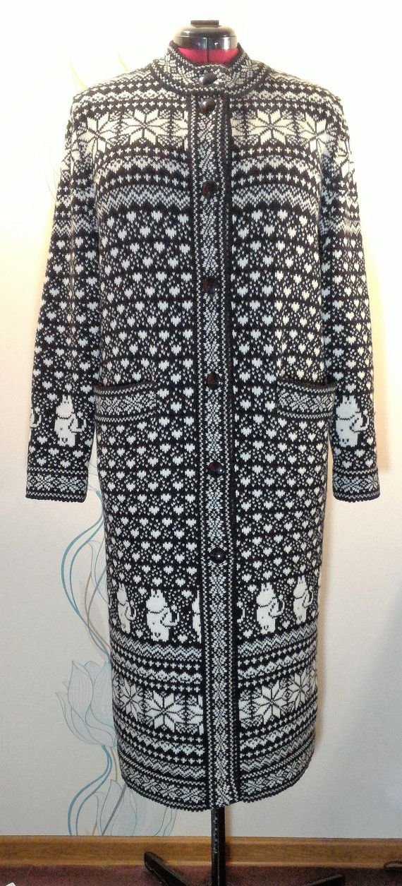 Coat for adult with moomin pattern by LanaNere on Etsy
