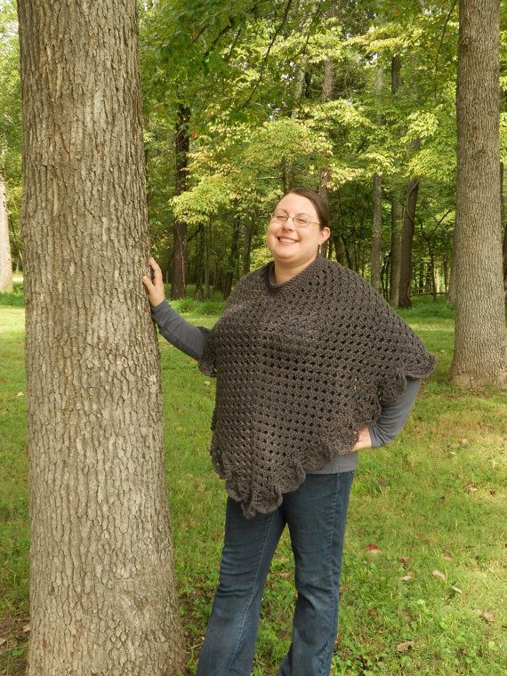Check out this popular item in my Etsy shop https://www.etsy.com/listing/247747698/made-to-order-dark-grey-crochet-poncho