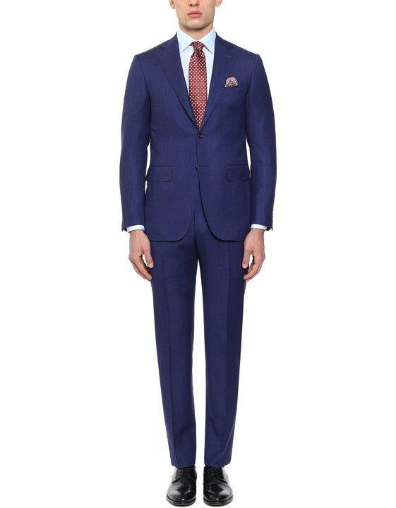 Elegante abito blu denim in lana | Acquista su Canali.com