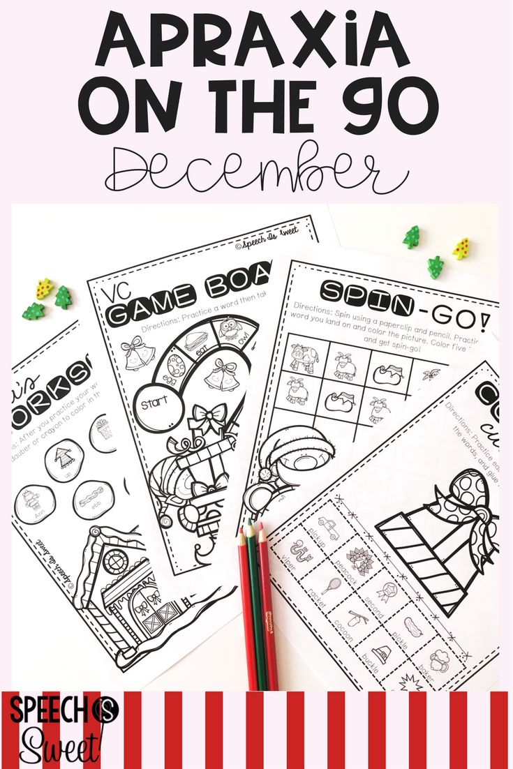 Coloring activities speech therapy - December Apraxia On The Go Christmas Speech Therapytherapy