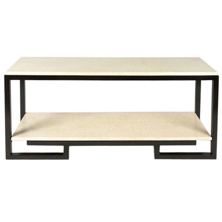 Paul Frankl Cork And Mahogany Console Table