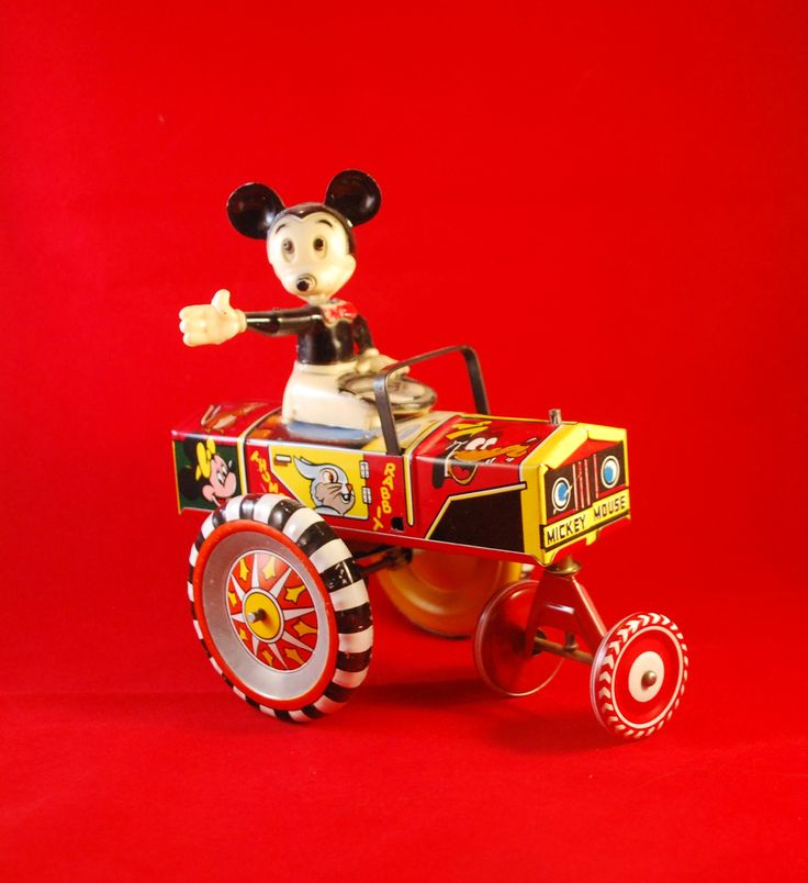 Mickey Mouse Car Mint in the Original Box - Click Image to Close