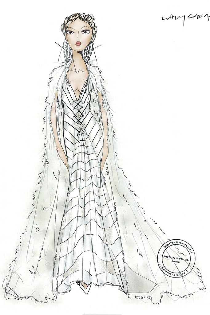 Lady Gaga wedding gown imagined by Sonia Rykiel. [Courtesy of the designer]