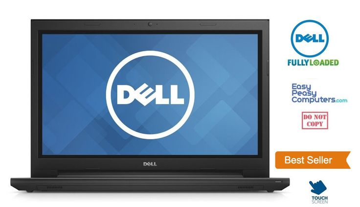 "Laptop Deals - NEW DELL Laptop Touchscreen 15.6"" Windows 10 Webcam DVD 500GB 4GB (FULLY LOADED) #Dell"