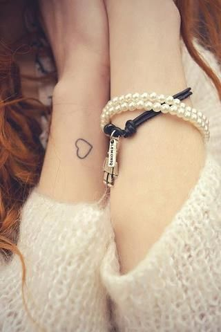 Cute heart tattoo- LOVE the placement