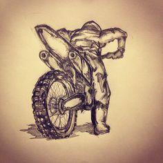 1000  ideas about Motocross Tattoo on Pinterest | Racing Tattoos Fox ...