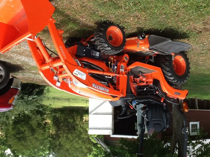 "My new Kubota compact tractor with 60"" mower deck and front end loader"
