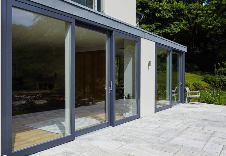 Lift Slide Doors in Alu Clad
