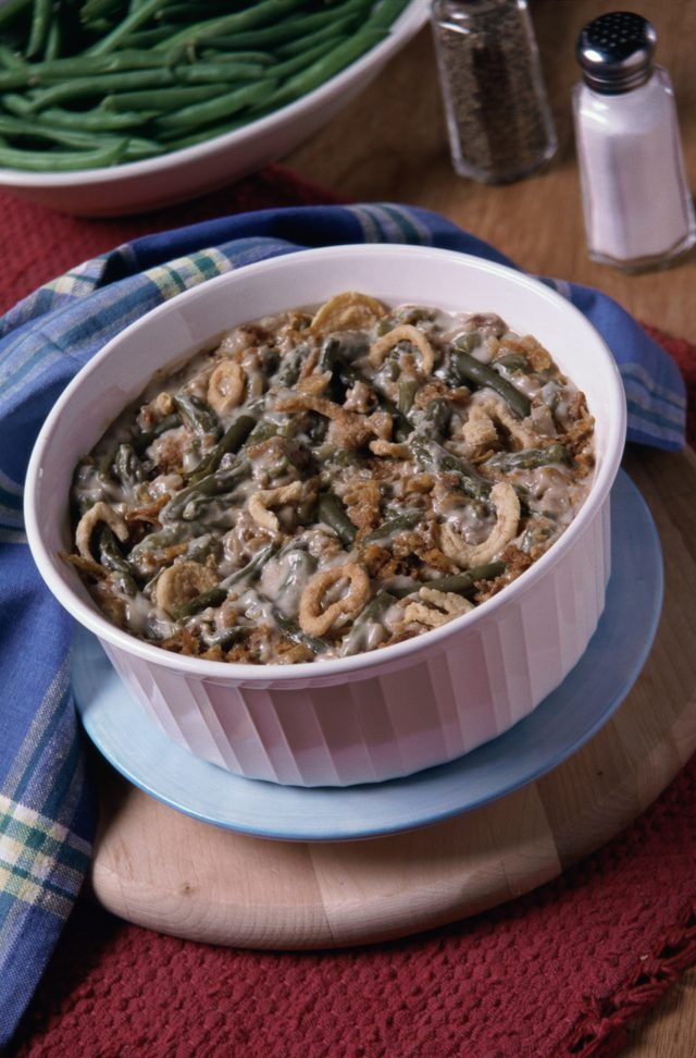 Green bean casserole is a holiday staple made with cream ...