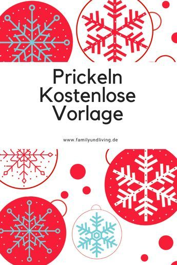Weihnachtsbasteln Vorlagen Für Kinder.Weihnachten Prickelvorlage Kostenlos Zum Download Basteln