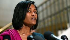 FILE - In this Sept. 3, 2015 file photo, Cheryl Mills speaks to reporters on Capitol Hill in Washing... - The Associated Press
