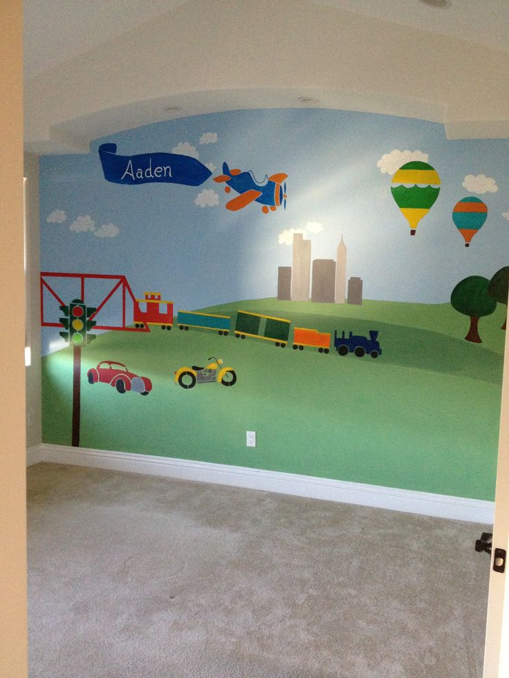 205 best images about childrens room murals on pinterest for Fabric for boys room
