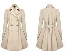 High Quality Fashion Slim Female duster coat Autumn Winter Women Coat Single Breasted Outerware Plus Size trench coat for women(China (Mainland))