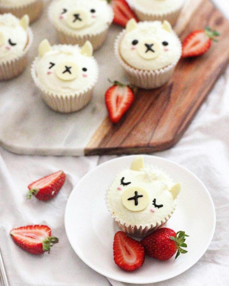Niedliche #Lama #Cupcakes lassen sich einfach selbst gestalten – Linni