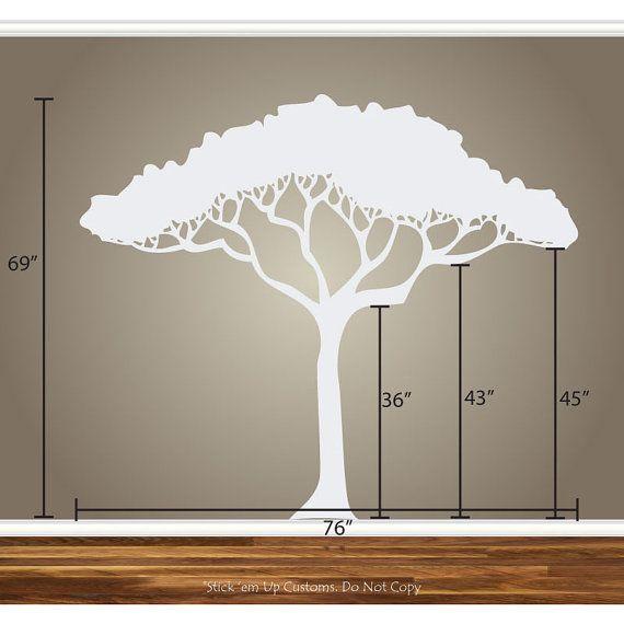 African Safari Tree Wall Decal Nursery Baby by StickemUpCustoms