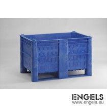 Hygiene palletbox, 1200x800x740 mm 520 liter, geperf. wanden, blauw