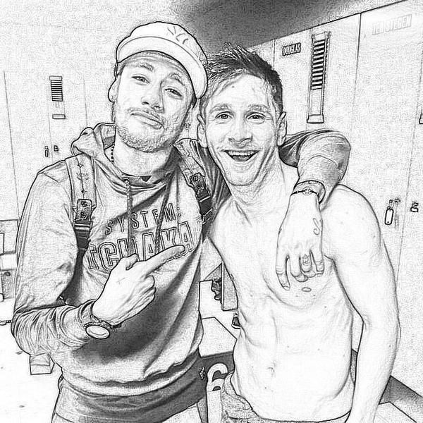 546. Drawing: Neymar and Messi | Hipster images ...
