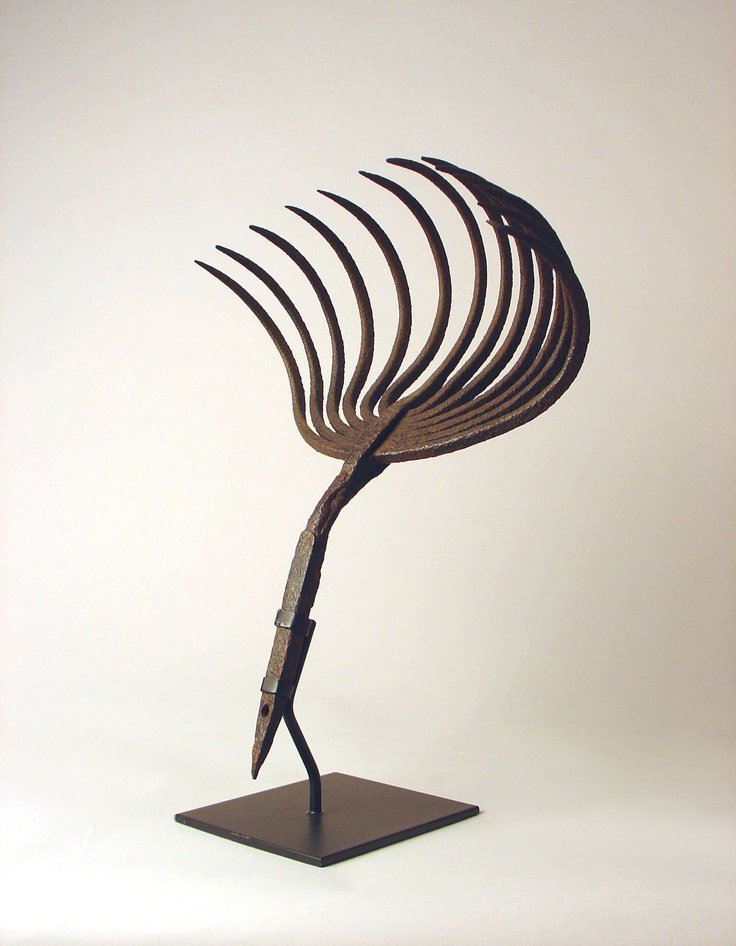 Sculptural Clam Rake on Museum MountSculpture Clams, Objet Trouve, Clams Rake, Object Objet, Pirtle Object, Museums Mount