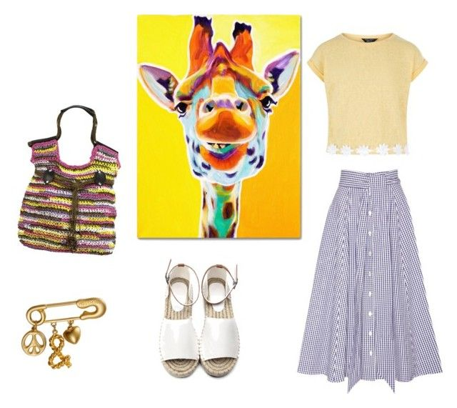 """Zoo"" by marianaestrella60 on Polyvore featuring Lisa Marie Fernandez, New Look, Trademark Fine Art y Moschino"