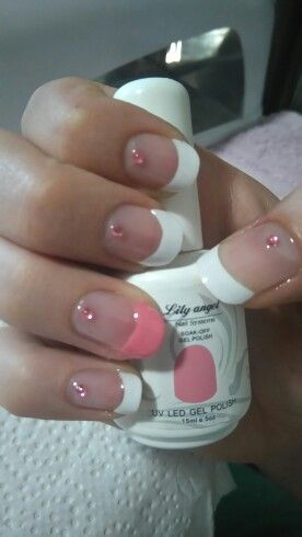 Lily Angel french tips with Pink