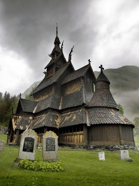 12th Century Wooden Church, Borgund, Sogn og Fjordane, Norway | See more