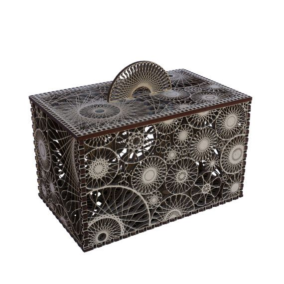 Small Lacy Box - Explores the limits of laser cutting.