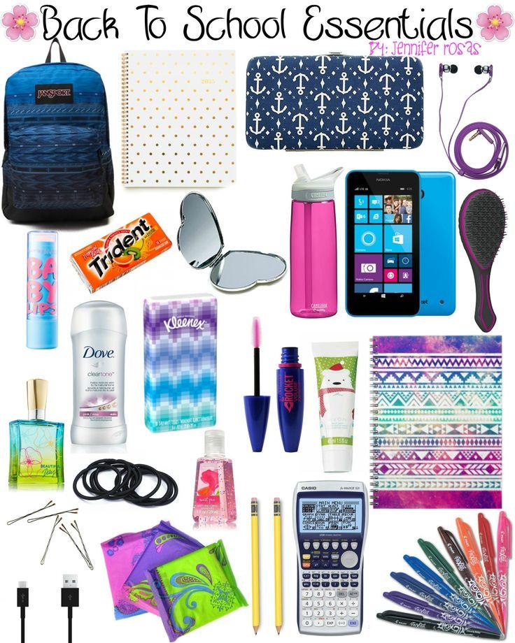 Back To School Essentials by Jennifer Rosas