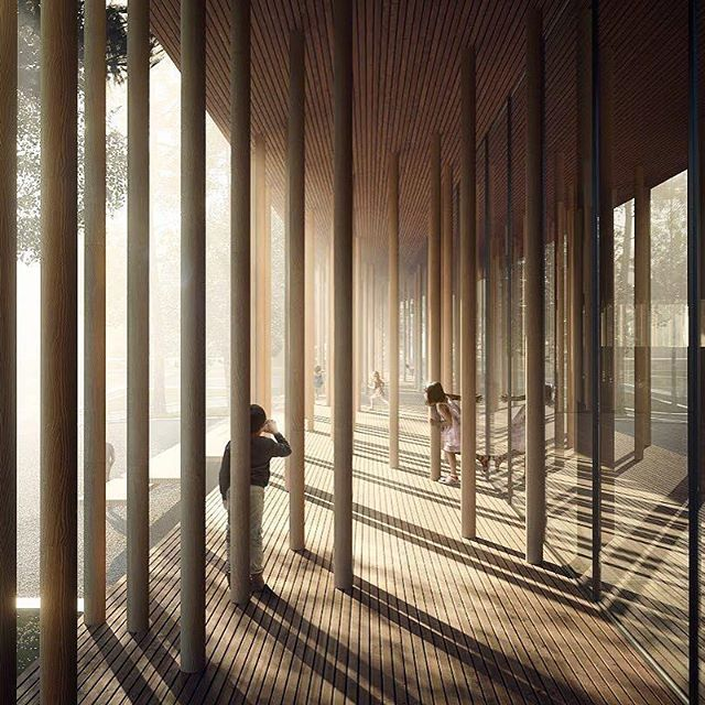 3_Aesthetica.studio_Here's a view of the awesome forest of columns of the new Norsk Skogfinsk Museum by llj_architects_Barcelona,Spain