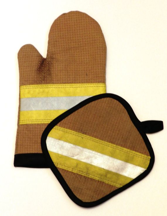 Decommissioned Firefighter Bunker Gear Oven Mitt & Pot Holder | Shared by LION