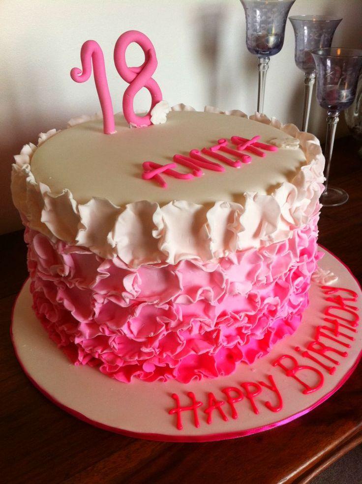 Naked girl happy birthday cake