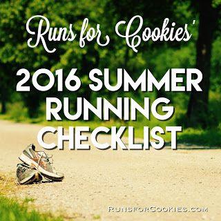 Runs for Cookies: Summer Running Checklist