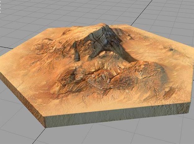 catan_desert_hexagon by tedparsec'