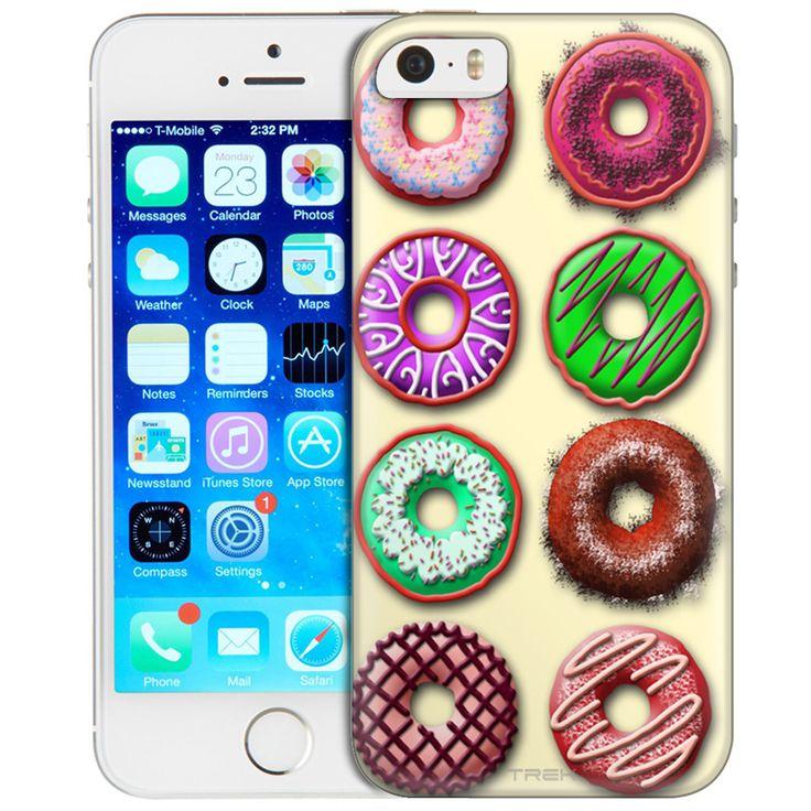 Apple iPhone SE Box of Colorful Dounuts Trans Case