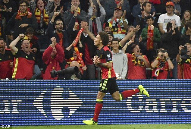 It was an up-and-down night for Belgium midfielder Axel Witsel, who scored on 27 minutes