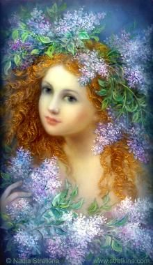 This is from a fantastic Russian artist named Nadezhda Strelkina - see more of her work at www.strelkina.com  Фея