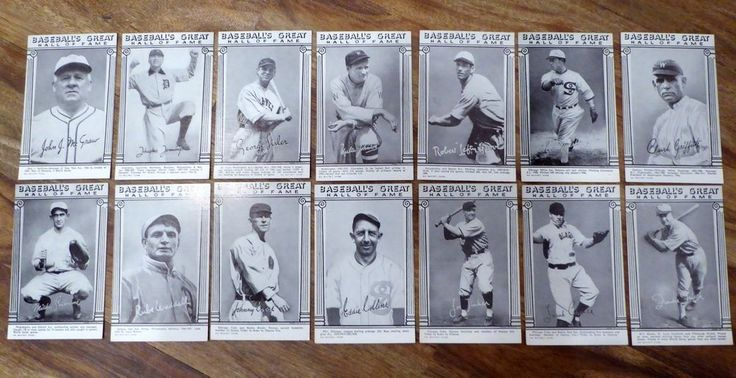 Baseball's Great Hall of Fame 14 Arcade Exhibit Cards Jennings Waddell Tinker
