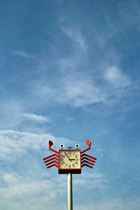 Photos, Signs, Blue Sky, Inspiration, Crabby Clocks, Crabs Clocks, Art Design Object, Crabs Time, Clocks Watches