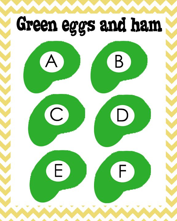 Green Eggs And Ham ABCs To Go Along With