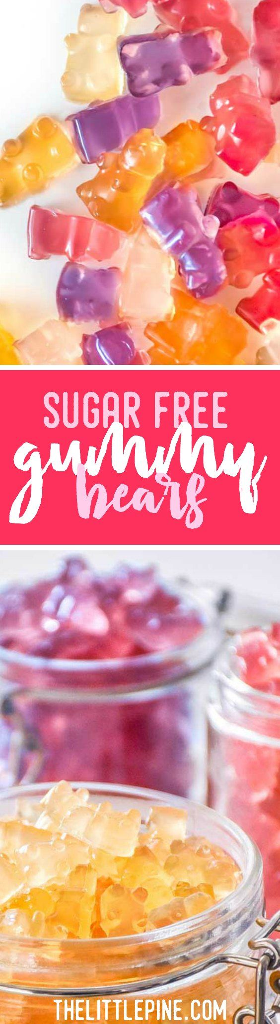 Delicious sugar free gummy bear recipe that's low carb, tummy friendly and sure to satisfy your sweet tooth! #lowcarb #keto #recipe #haribo #healthy #sweettreats via @https://www.pinterest.com/thelittlepine