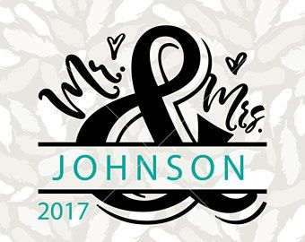 Mr and Mrs Split monogram SVG, Valentines SVG, Marriage SVG, Engagement svg, Holiday svg Cricut, Winter svg, dxf, for Cricut and Silhouette