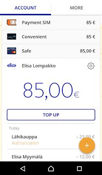 Elisa Wallet - Renewal: Main view (Android)