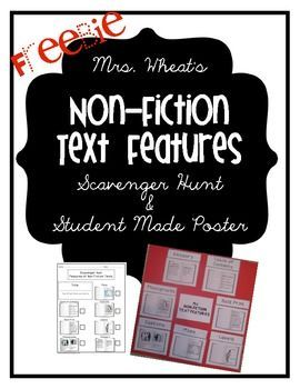 Non-fiction Text Features Freebie
