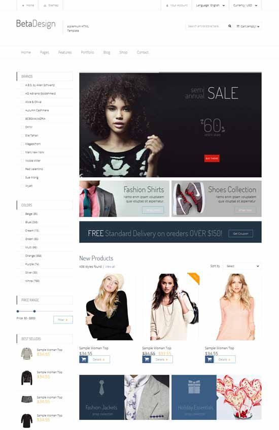 38 best HTML E-commerce Templates images on Pinterest Role - free p amp amp l template