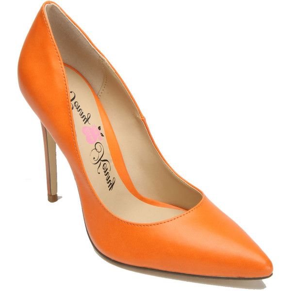 Penny Loves Kenny Opus Women's Orange Pump 9 W (£50) ❤ liked on Polyvore featuring shoes, pumps, orange, sexy pumps, party shoes, high heel pumps, sexy shoes and high heeled footwear