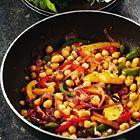 Kikkererwten met gestoofde paprika - recept Pascale Naessens