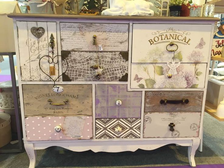 Chalk Painting Furniture, Shabby Chic, Dressers, Decoupage, Restored  Furniture, Wood