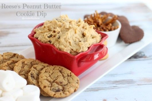 Reese's Peanut Butter Cookie Dip from @createdbydianeCookies Mixed, Dips Decor, Reese Peanut, Yummy Recipe, Reese'S Peanut, Peanut Butter Cookies, Ree Peanut, Cookies Dips What, Peanut Butter Snacks Mixed