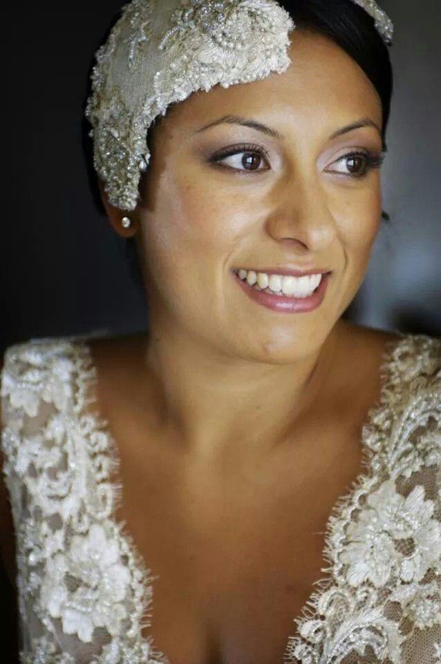 Emma Lastra Custom made Vintage lace headpiece