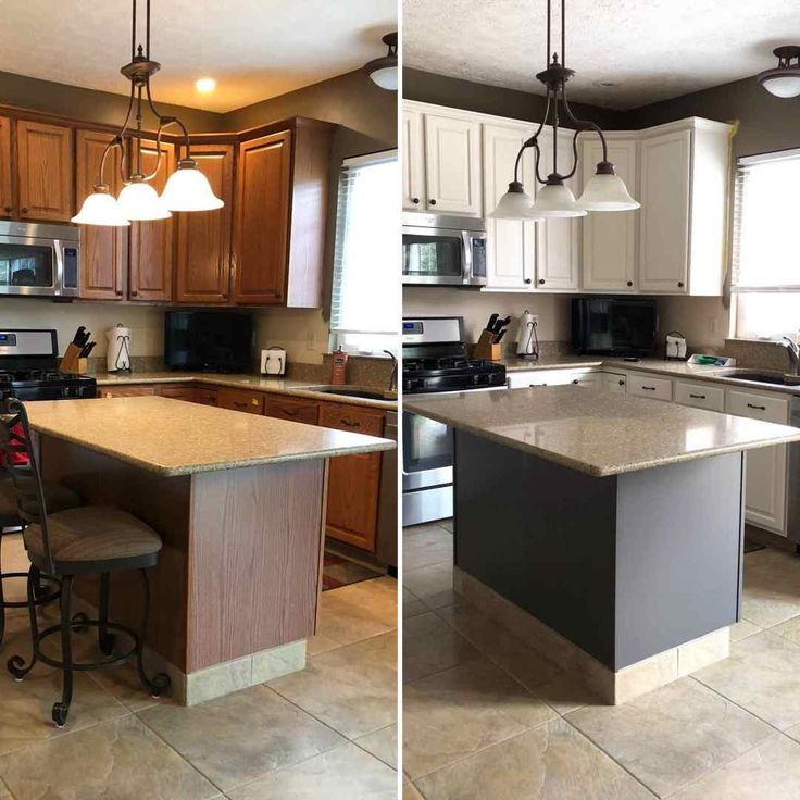 Oak Kitchen Before and After Makeover –